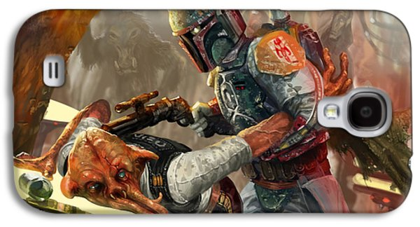 Boba Fett - Star Wars The Card Game Galaxy S4 Case by Ryan Barger