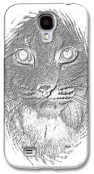 Bobcat In Charcoal Galaxy S4 Case