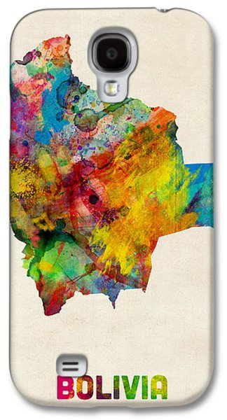 Bolivia Watercolor Map Galaxy S4 Case by Michael Tompsett