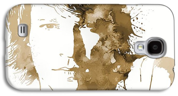 Bon Jovi Paint Splatter Sepia Galaxy S4 Case