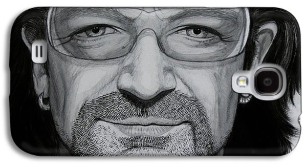 Bono Carbon Ink Portrait Galaxy S4 Case by Dale Crum