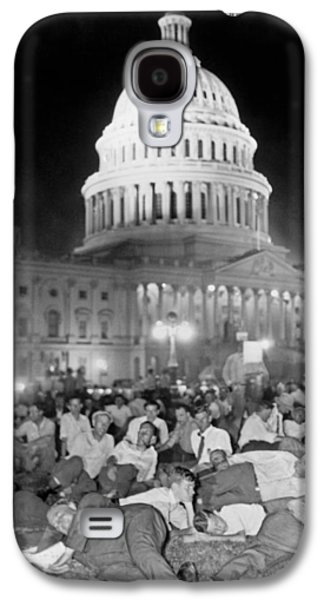 Bonus Army Sleeps At Capitol Galaxy S4 Case by Underwood Archives