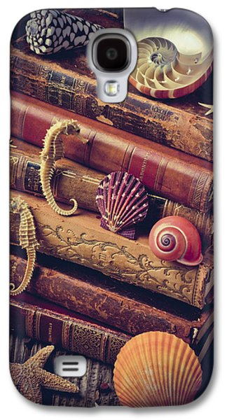 Books And Sea Shells Galaxy S4 Case