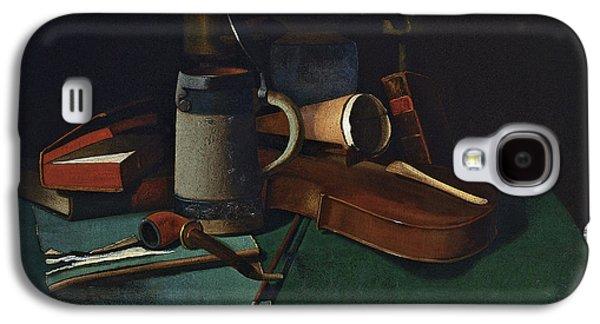 Violin Galaxy S4 Case - Books Mug Pipe And Violin by John Frederick Peto
