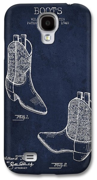 Boots Patent From 1940 - Navy Blue Galaxy S4 Case by Aged Pixel