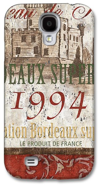 Bordeaux Blanc Label 2 Galaxy S4 Case by Debbie DeWitt