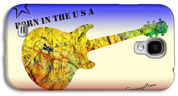 Born In The U S A Bruce Springsteen Galaxy S4 Case by David Dehner