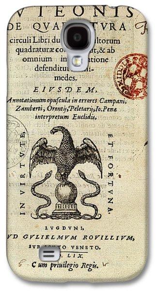 Borrel's 'de Quadratura Circuli' (1559) Galaxy S4 Case by Middle Temple Library
