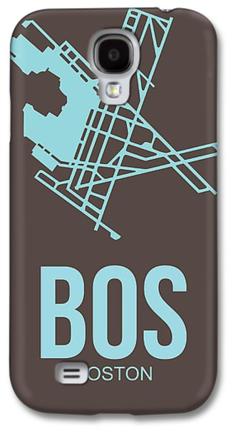 Travel Galaxy S4 Case - Bos Boston Airport Poster 2 by Naxart Studio