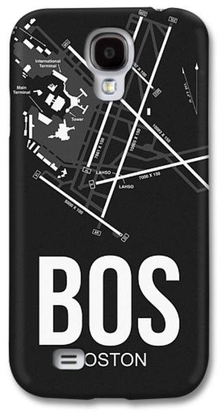 Boston Airport Poster 1 Galaxy S4 Case by Naxart Studio