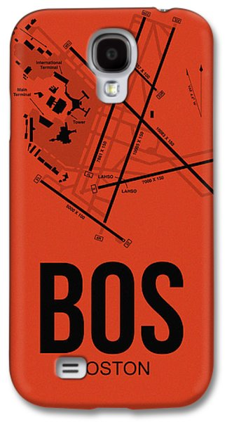 Boston Airport Poster 2 Galaxy S4 Case by Naxart Studio