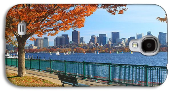 City Scenes Galaxy S4 Case - Boston Charles River In Autumn by John Burk