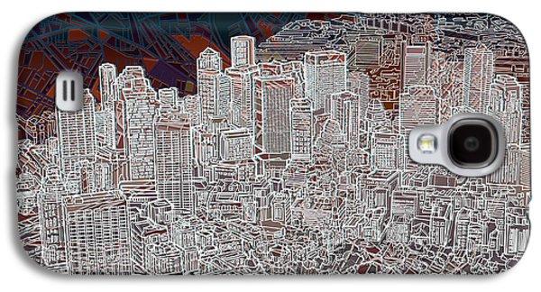 Boston Panorama Abstract 3 Galaxy S4 Case