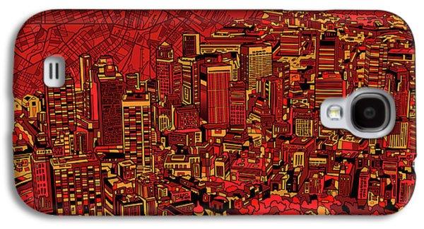 Boston Panorama Red Galaxy S4 Case