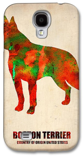 Boston Terrier Poster Galaxy S4 Case by Naxart Studio