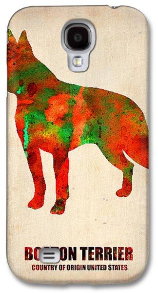 Boston Terrier Poster Galaxy S4 Case by Naxart Studio