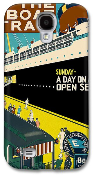 Boston Vintage Travel Poster Galaxy S4 Case