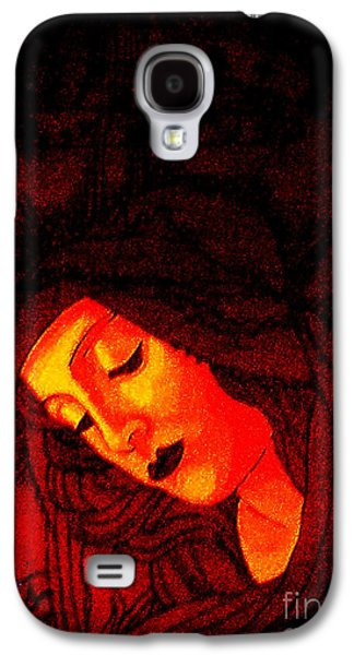 Botticelli Madonna In The Light Galaxy S4 Case by Genevieve Esson