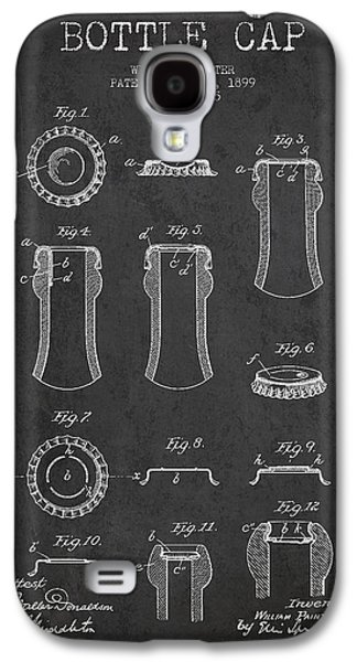 Bottle Cap Patent Drawing From 1899 - Dark Galaxy S4 Case by Aged Pixel