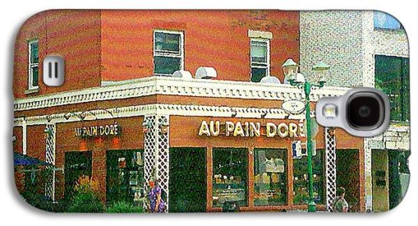 Boulangerie Au Pain Dore Corner Store Paintings French Bakery Shops  Montreal Depanneur Art Cspandau Galaxy S4 Case by Carole Spandau