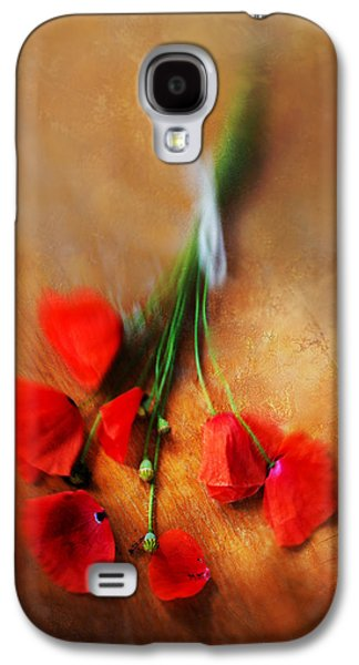 Bouquet Of Red Poppies And White Ribbon Galaxy S4 Case