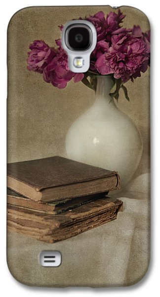 Bouquet Of Peonies And Old Books Galaxy S4 Case