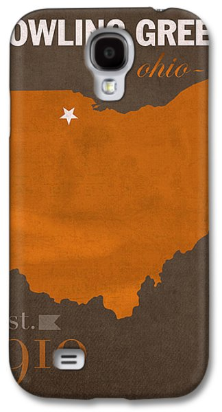 Bowling Green State University Falcons Ohio College Town State Map Poster Series No 021 Galaxy S4 Case by Design Turnpike