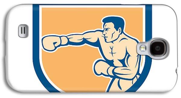 Boxer Boxing Punching Shield Cartoon Galaxy S4 Case