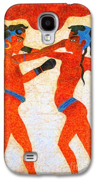 Boxer Boys Painting Galaxy S4 Case by Antony McAulay