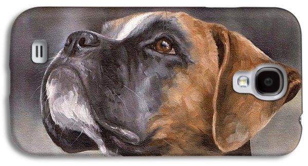 Boxer Painting Galaxy S4 Case by Rachel Stribbling