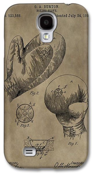 Boxing Gloves Patent Galaxy S4 Case by Dan Sproul