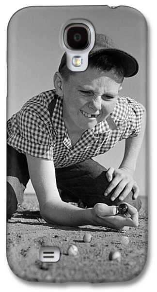 Boy Shooting Marbles, C.1950-60s Galaxy S4 Case