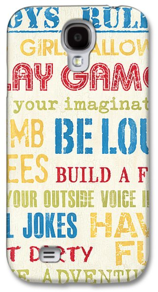 Boys Rules Galaxy S4 Case by Debbie DeWitt