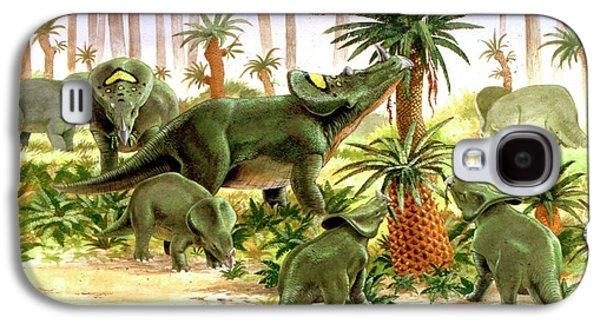Feeding Young Galaxy S4 Case - Brachyceratops Dinosaurs by Deagostini/uig
