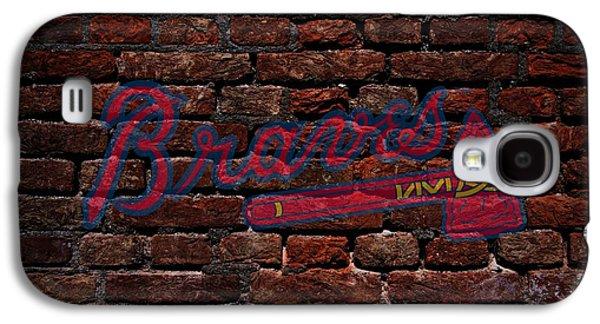 Braves Baseball Graffiti On Brick  Galaxy S4 Case