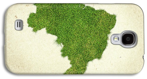 Brazil Grass Map Galaxy S4 Case by Aged Pixel