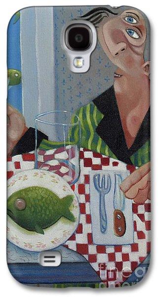 Breakfast In Barbados 1989 Galaxy S4 Case by Larry Preston