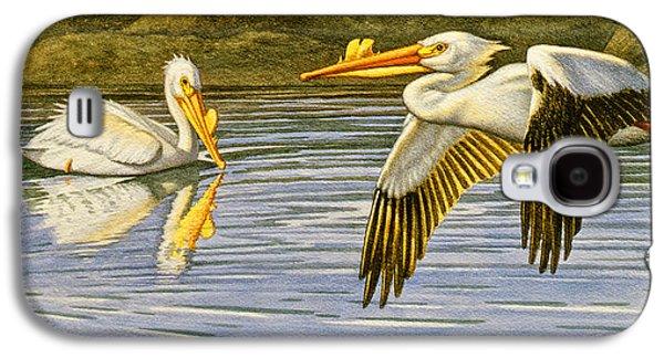 Pelican Galaxy S4 Case - Breeding Season- White Pelicans by Paul Krapf