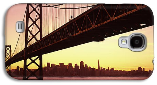 Bridge Across A Bay With City Skyline Galaxy S4 Case by Panoramic Images