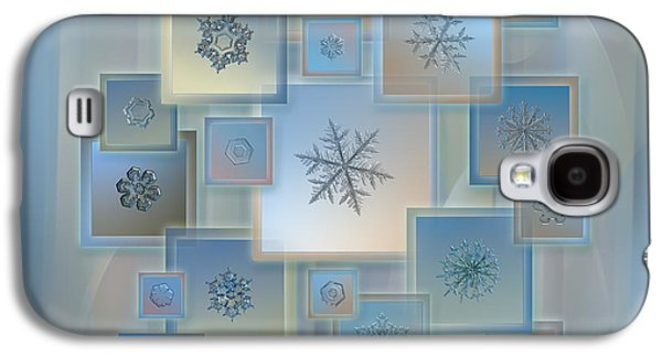 Snowflake Collage - Bright Crystals 2012-2014 Galaxy S4 Case