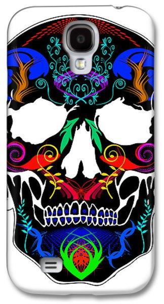 Bright Skull Galaxy S4 Case by Mauro Celotti