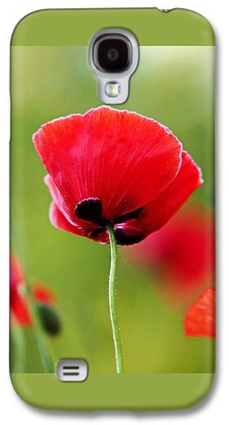 Brilliant Red Poppy Flower Galaxy S4 Case