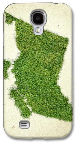 British Columbia Grass Map Galaxy S4 Case by Aged Pixel