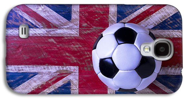 British Flag And Soccer Ball Galaxy S4 Case by Garry Gay