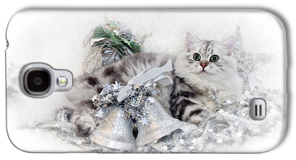 British Longhair Cat Christmas Time Galaxy S4 Case by Melanie Viola