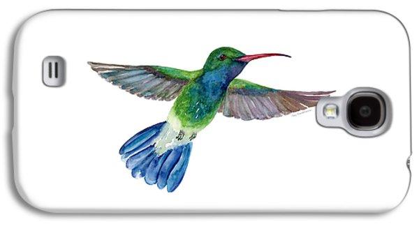 Broadbilled Fan Tail Hummingbird Galaxy S4 Case by Amy Kirkpatrick
