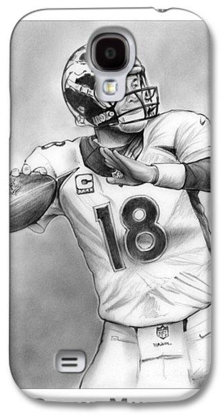 Broncos Peyton Manning Galaxy S4 Case by Greg Joens