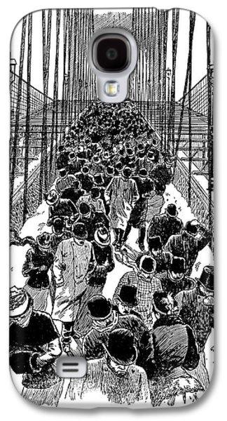 Brooklyn Bridge, 1898 Galaxy S4 Case by Granger