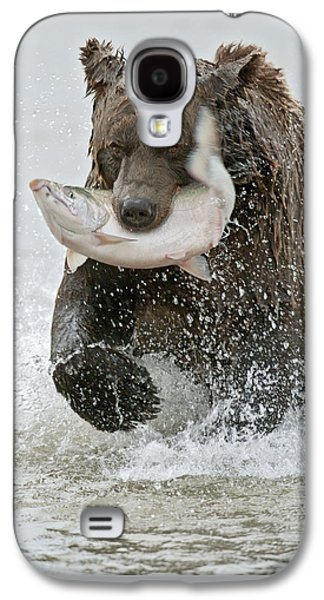 Brown Bear With Salmon Catch Galaxy S4 Case