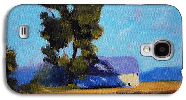 Brown Farm Landscape Galaxy S4 Case by Nancy Merkle